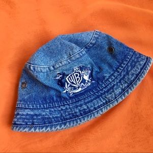 Vintage Warner Brothers Denim Bucket Hat